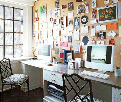 elle decor office for two