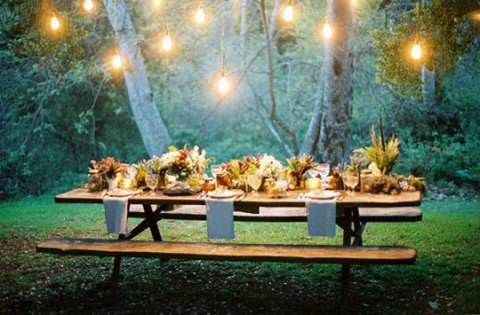 Idea design outdoor dining room atmosphere forest edge