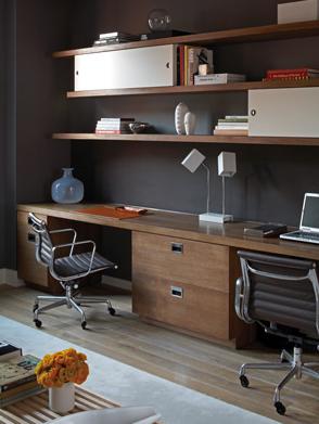 Perfect  Modern Walnut Laminate TShaped Desk  Office Furniture Center