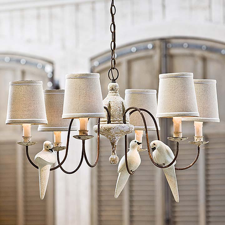 Hanging Light Chanelier Over Kitchen Table