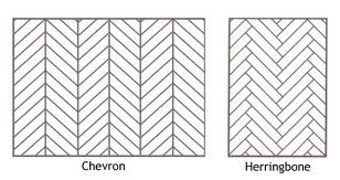 Chevron vs. Herringbone