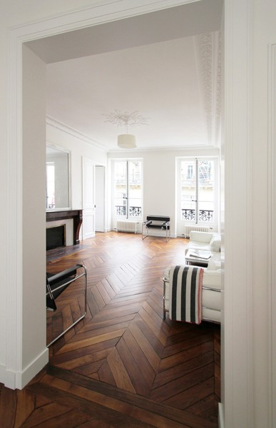 Beautiful chevron floors